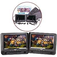 "LASER DVD Player Dual 9"" in car with Bonus Pack"