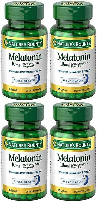 Amazon.com: Nature s Bounty Melatonina 10 mg, 4, 1: Health ...