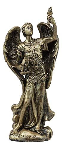 Ebros Bronzed Greek Orthodox Christian Church Archangel of The Angelic Council Statue 5 Tall Figurine The Angelic Council 7 Archangels Set
