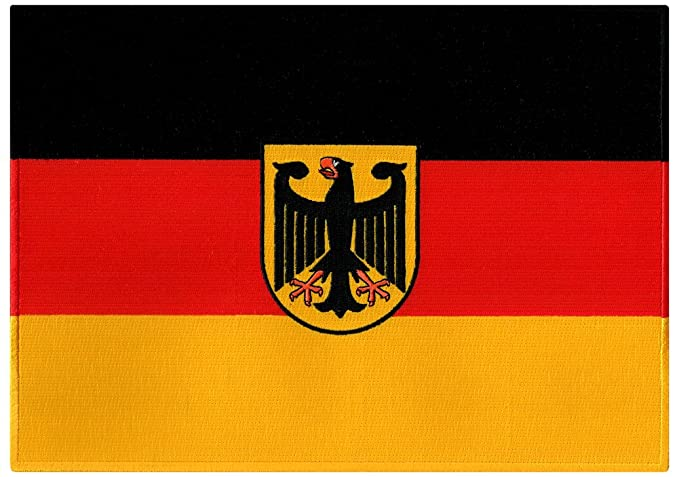 Amazon.com: Large Germany Flag Embroidered Patch German Eagle Iron ...