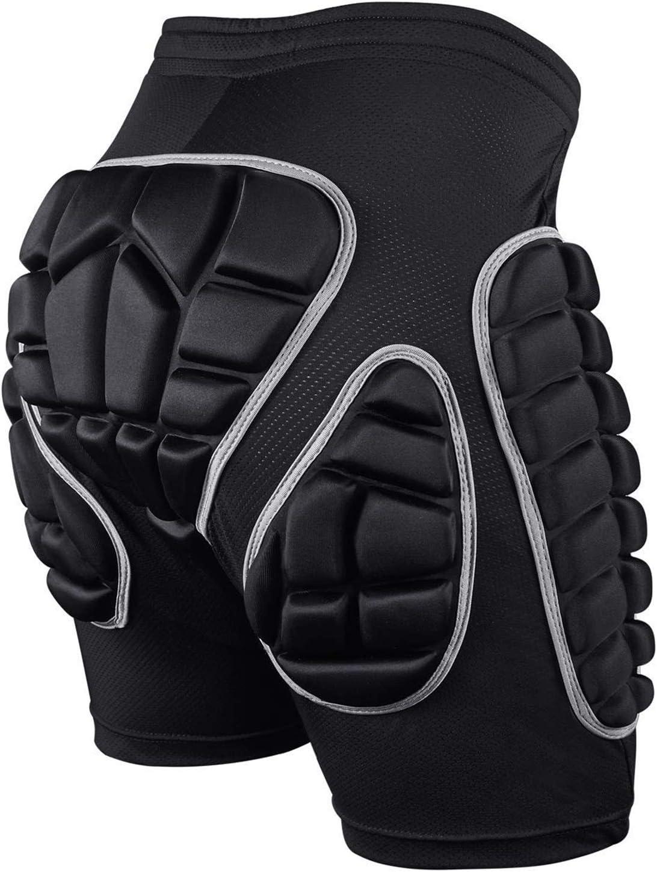 SKL Pantalones Cortos Acolchados, Hip Pad Protector para Esquí, Patinaje, Snowboard y Otros Deportes (XS,S,M,L)