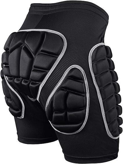 Imagen deSKL Pantalones Cortos Acolchados, Hip Pad Protector para Esquí, Patinaje, Snowboard y Otros Deportes (XS,S,M,L)