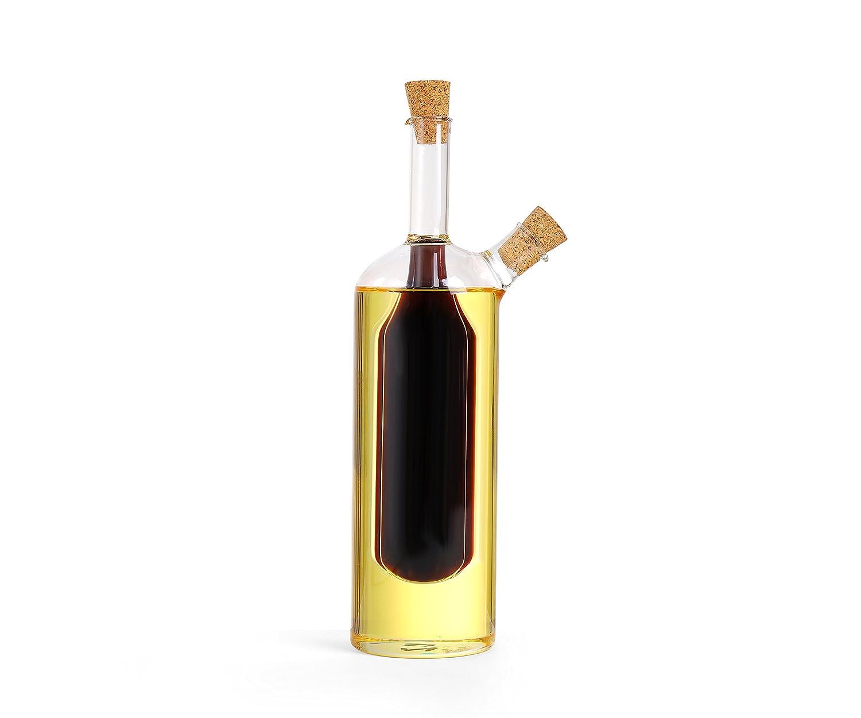 Dispensador de vidrio dual de aceite de oliva y vinagre (VB2): Amazon.es: Hogar