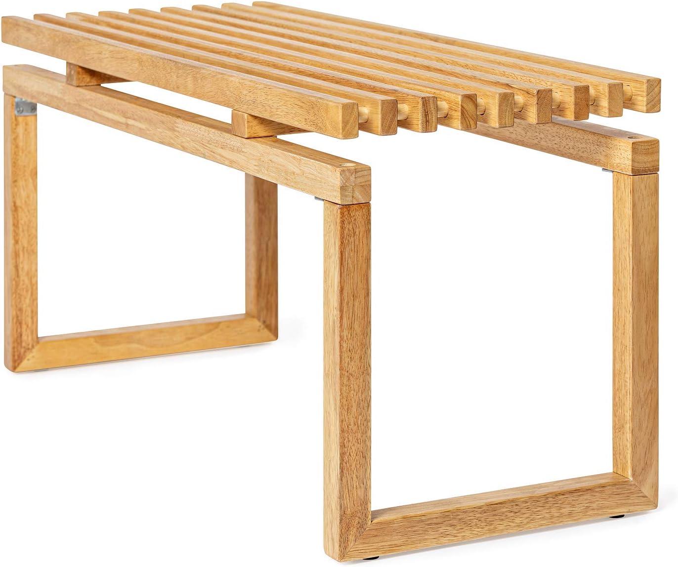 Deliano - Banco de madera estilo Bauhaus maciza, con espacio de almacenamiento de 90 cm de ancho: Amazon.es: Hogar