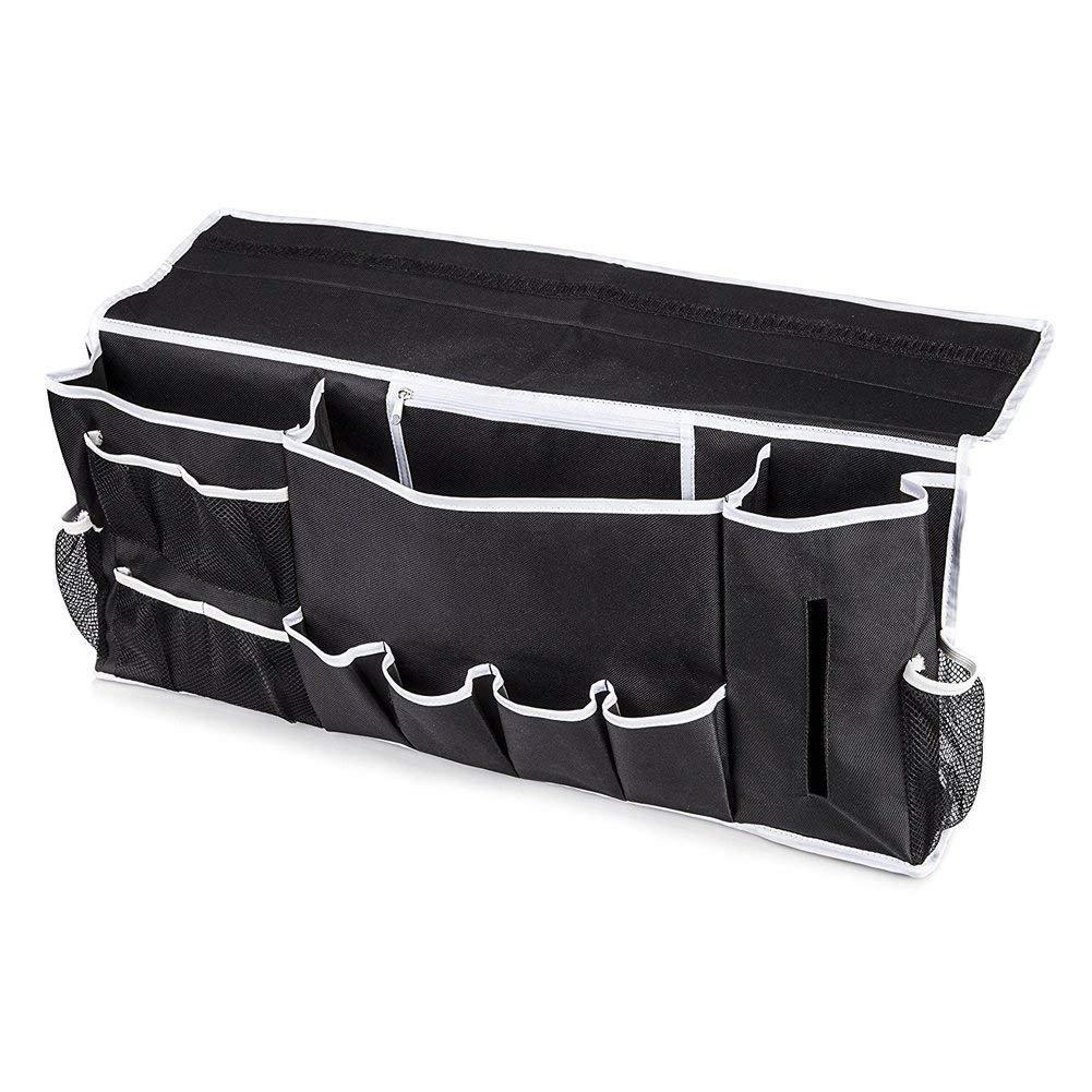 LoveBuy Bedside Caddy Storage Organizer Hanging Storage Bag with 12 Pockets for Bedroom,Bathroom,Dorm, Laptop, Books, Tablet, Phone, Water,Pen Organizing