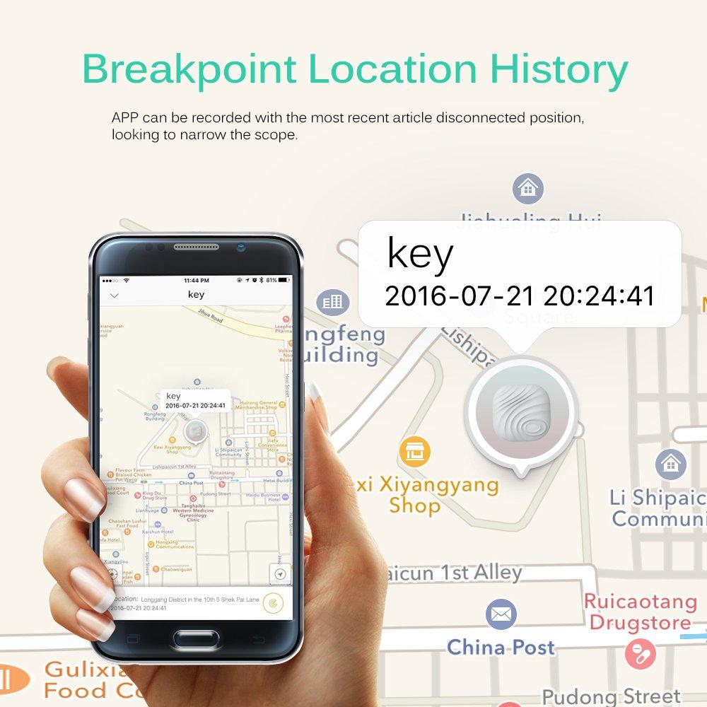 chiave del cercatore di navigazione Bluetooth Upgrade Grigio Key localizzatore anti lost Tracker mini GPS Nuss 3 Key finder//telefono//cercatore di portafogli