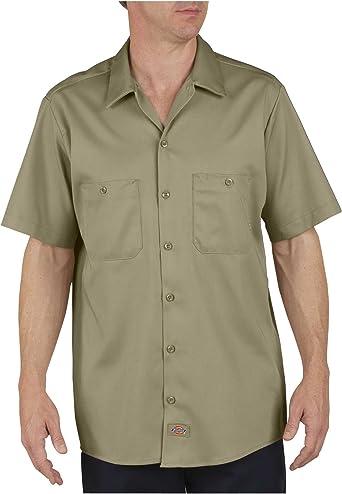 Dickies - Camisa de manga corta Industrial Trabajo Algodón - LS307, Small x Regular, Desert Sand: Amazon.es: Ropa y accesorios