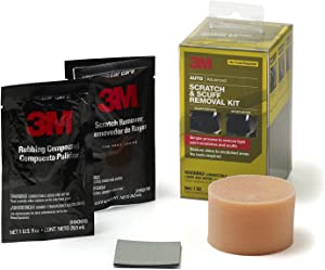 3M Scratch & Scuff Removal Kit, Simple Process to Remove Light Paint Scratches & Scuffs, 1 Kit
