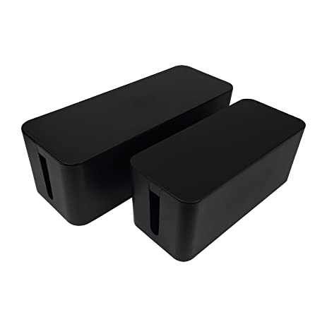 Set of Two] ABIENTOT Cable Management Box, Large Cable Organizer ...