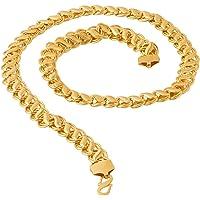 Voylla Voylla Designer Chain Necklace for Men (Golden) (8907617240268)