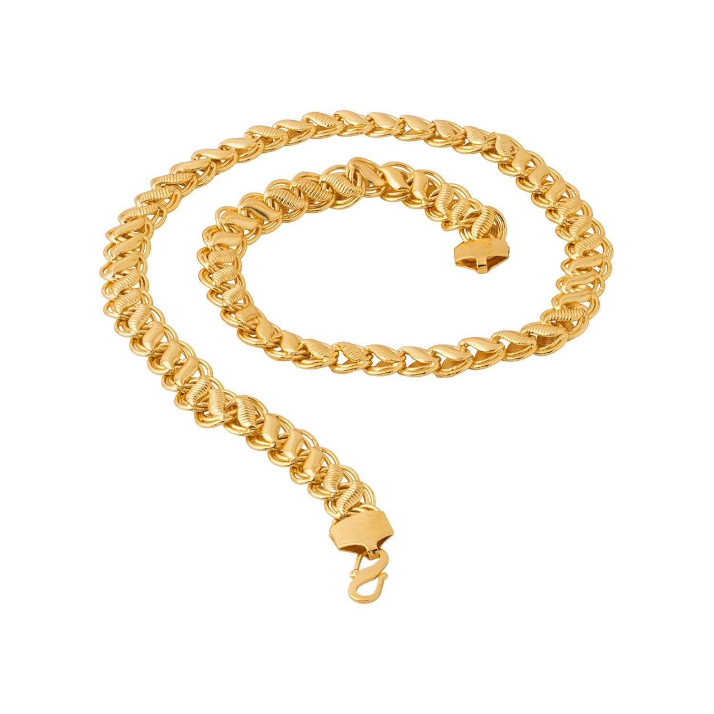 f1bb77d3421f9 Voylla Voylla Designer Chain Necklace for Men (Golden) (8907617240268)   Amazon.in  Jewellery