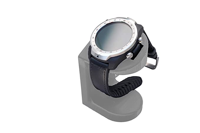 Artifex Design Stand Configured TicWatch Pro Smartwatch, Charging Stand, Artifex Charging Dock Stand Tic Watch Pro only (Silver)