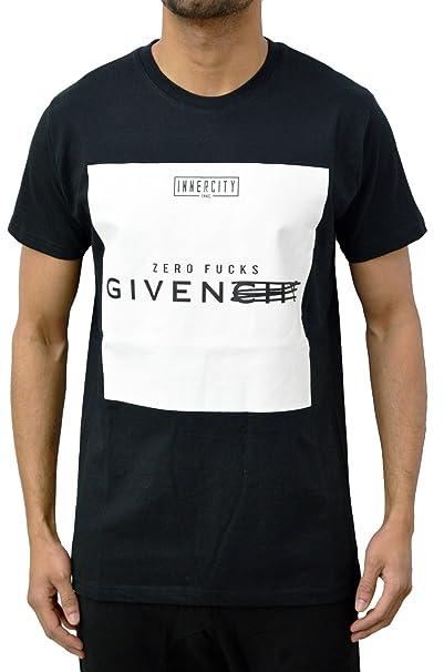 752c508a321 Innercity Designer Men s Black ZERO FUCKS Givenchy Streetwear Fashion  T-Shirt X-Large