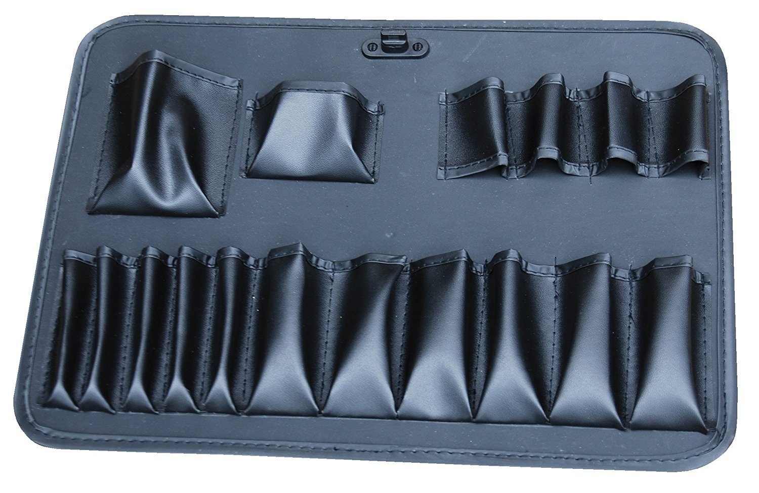 """Extra security double key lock Multi use metal box Weather and dent resistant Padded dividers and 17 pocket tool holder Edward Tools Aluminum Carrying Case 18/"""" Heavy duty aluminum"""
