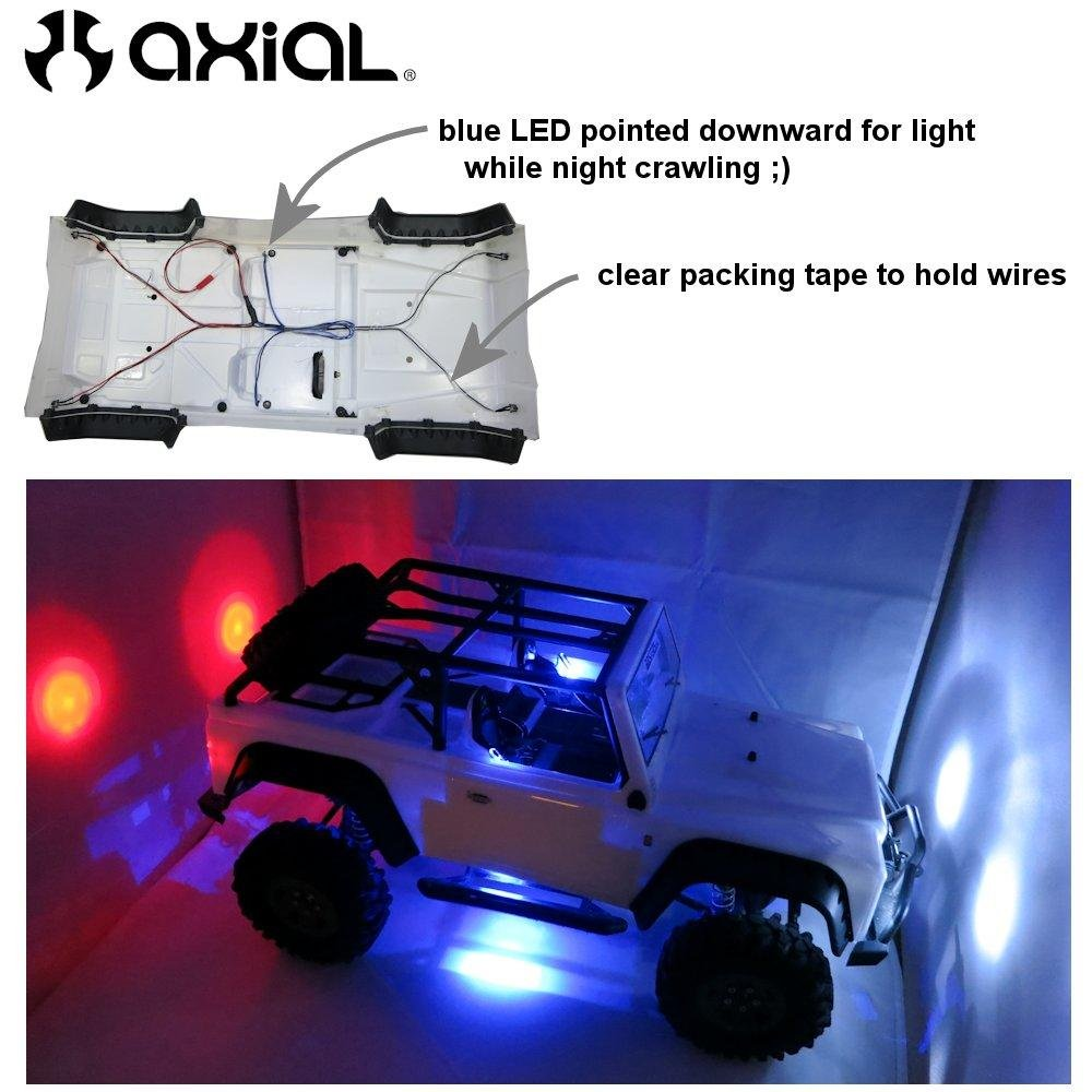Bastens RC Car /& Truck 6 LED body lights kit set with Snap-In Holder Rings 2 White Headlight 2 Blue Fog or Parking Accessory Lights fits most 1//10 1//16 1//18 scale such as Traxxas Axial Losi RedCat 2 Red Tail Lights