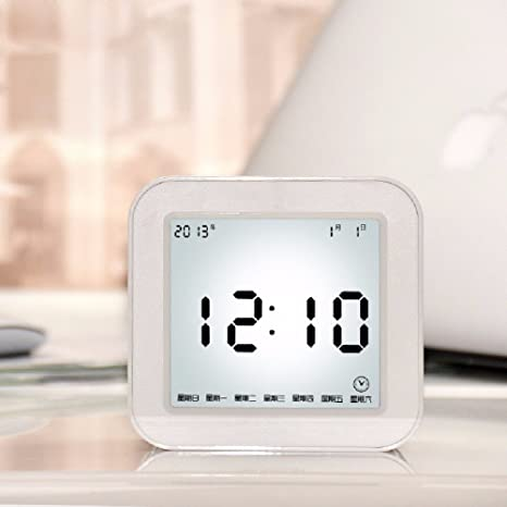 HQLCX Reloj de pared Electrónico Multifuncional Reloj Despertador Niños Luminoso Reloj Alarma Snooze Perezoso Estudiantes,