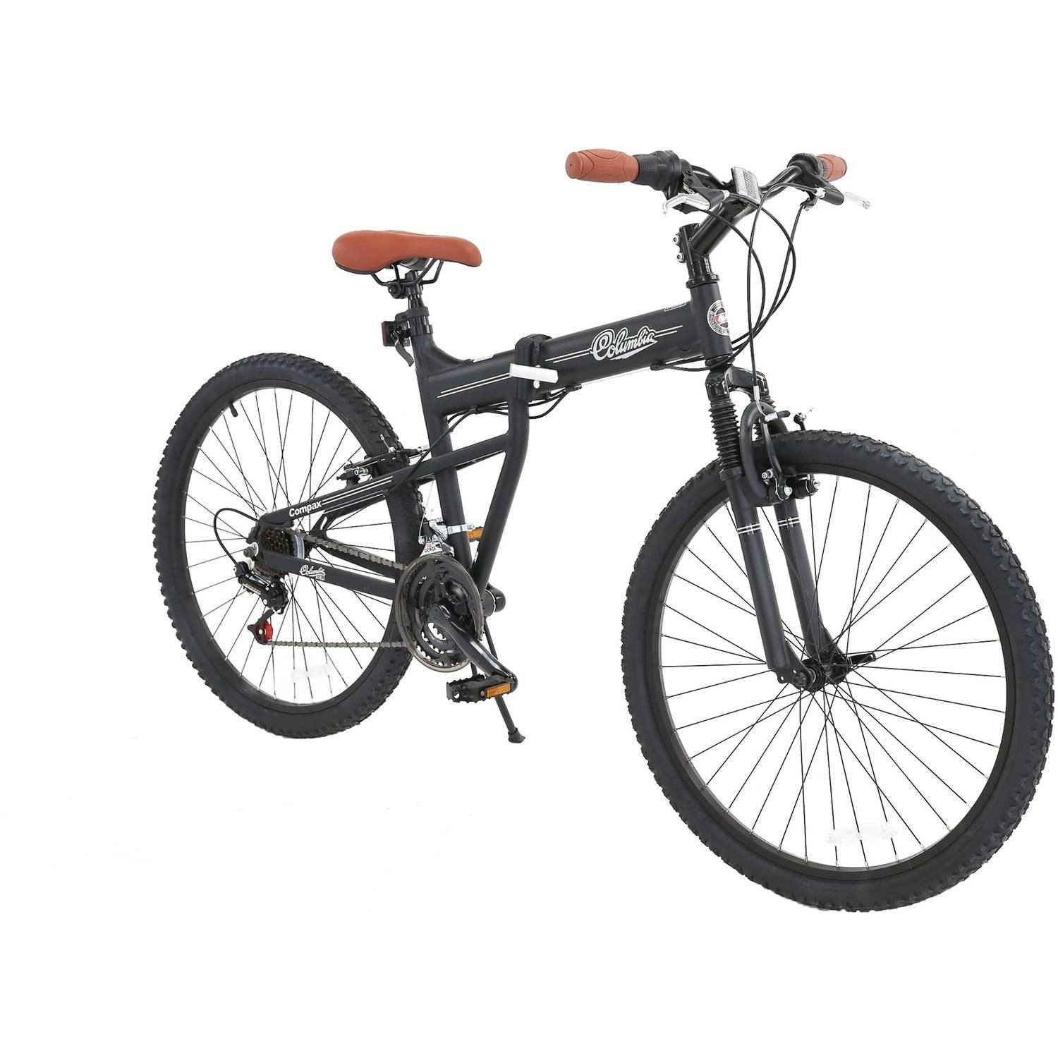 Columbia Bicycles Compax 26'' Men's 21-Speed Folding Mountain Bike, 18''/One Size