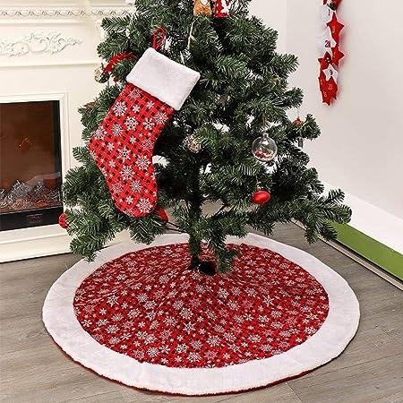 Lizefang Falda de árbol de Navidad Falda de árbol de Copo de Nieve ...