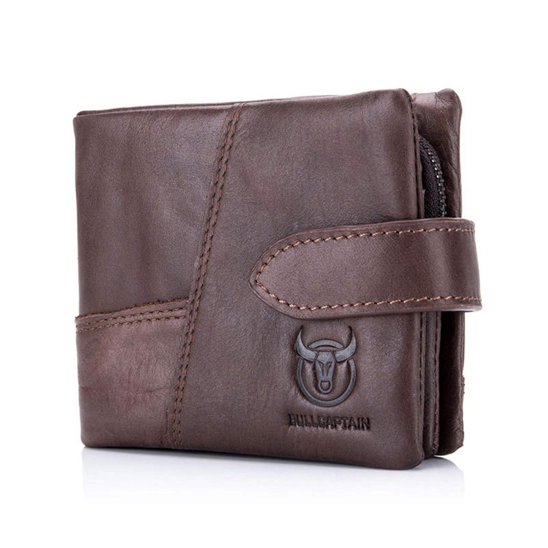 Adisaer-Leather Wallets for Men Bifold Credit Card Holder Change Purse Wallets