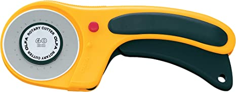 black and yellow OLFA Deluxe Rotary Cutter-60mm