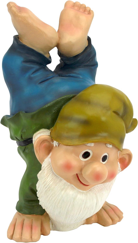 Garden Gnome Statue - Handstand Henry - Lawn Gnome
