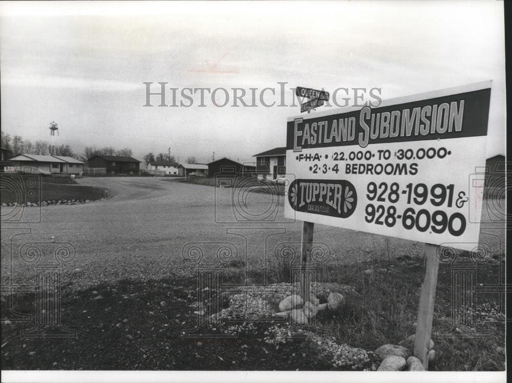 Vintage Photos 1976 Press Photo Eastland Subdivision Home Development Near Stateline Idaho