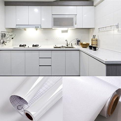 0,61x5,5M PVC Selbstklebend Möbel Klebefolie Küchenschrank Aufkleber  Schrankfolie Schlafzimmer Wand Tapeten Roller