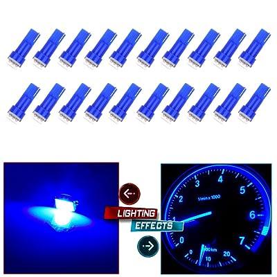cciyu 20 Pack T5 58 70 73 74 Dashboard Gauge 5050SMD LED Wedge Lamp Bulb Light 6 Colors Fits 2005-2007 GMC Sierra 1500 1500 HD Yukon Yukon XL 1500 Sierra 1500 1500 HD 2500 HD 3500 (20pack blue): Automotive [5Bkhe1009458]