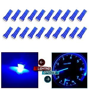 cciyu 20 Pack T5 58 70 73 74 Dashboard Gauge 5050SMD LED Wedge Lamp Bulb Light 6 Colors Fits 2005-2007 GMC Sierra 1500 1500 HD Yukon Yukon XL 1500 Sierra 1500 1500 HD 2500 HD 3500 (20pack blue)