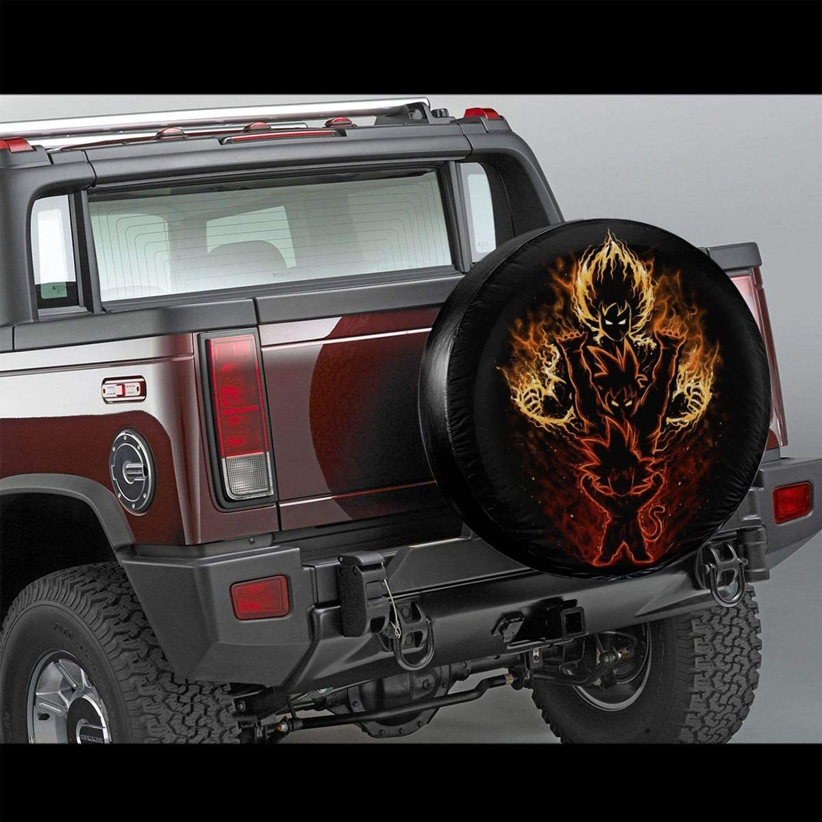 LMHBLTOP Dragon Ball Z Goku Tire Cover Multifunction Spare Tire Cover Wheel Covers for RV,Auto Truck,Car,Camper,Trailer