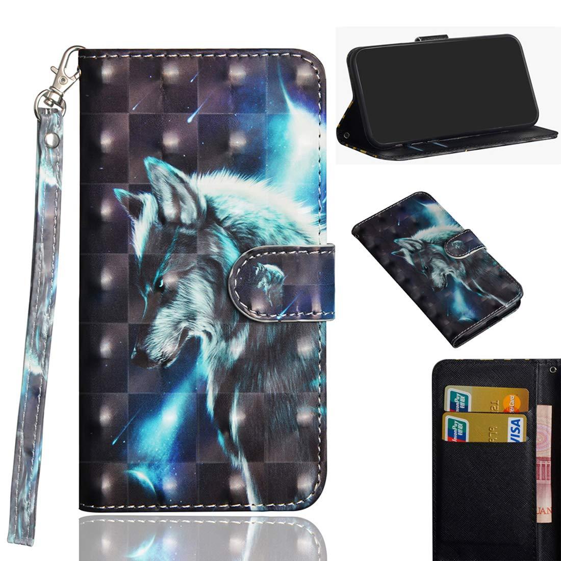 Lotuslnn Funda para Samsung Galaxy A50 Panda Carcasa Libro con Tapa Flip Case Golpes Cartera Billetera Brillos 3D PU Cuero Suave para Samsung Galaxy A50