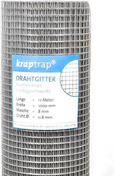 100 cm Breite 1m x 25m Drahtgitter 8 mm Masche 25 m L/änge kraptrap/® Volierendraht
