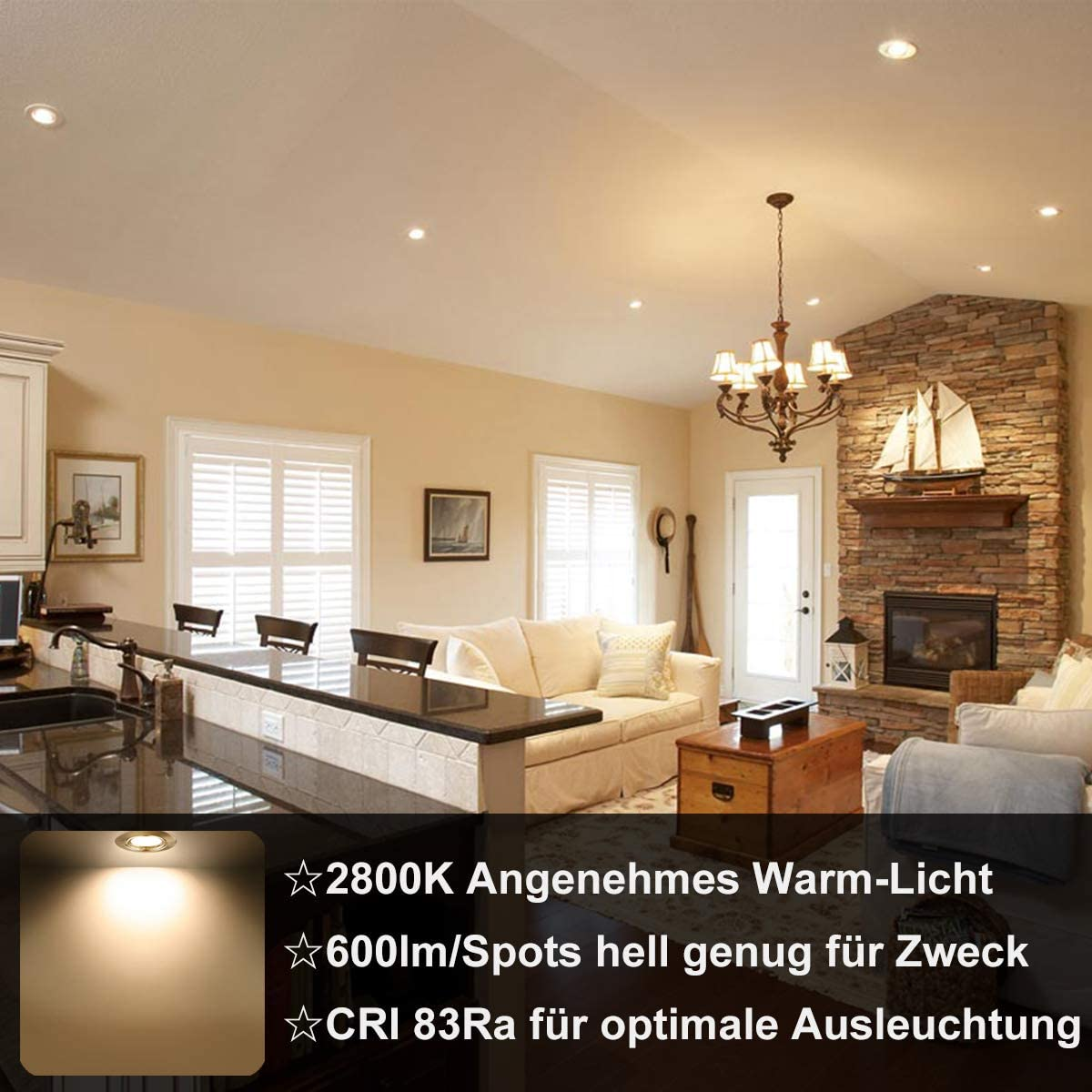 Wowatt LED Einbaustrahler 15V Einbauleuchte Schwenkbar 15K Warmweiß  Einbauspots f. Loch 15-15mm Rund inkl. 15x 15W GU15 Spots  Deckeneinbaustrahler
