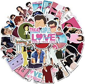 British Singer Harry Styles Sticker 50Pcs Waterproof, Removable,Cute,Beautiful,Stylish Teen Stickers, Suitable for Boys and Girls in Water Bottles, laptops, Phones,Guitar, Suitcase Durable Vinyl