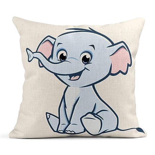 Cojín Animal de Lindo bebé Elefante Personaje de Dibujos ...