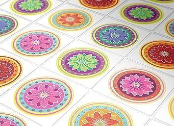 Amazon De Fliesenaufkleber Wand Farbung Mandalas Deko Orientalische