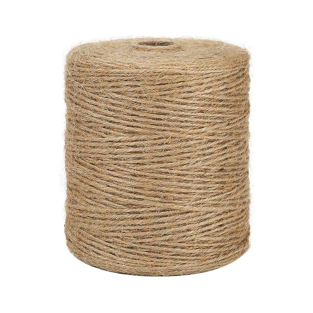 Natural Jute Twine Best Arts Crafts Gift Twine Christmas Twine Durable Packing String for Gardening Applications 328 Feet BESROY Twine String for Crafts 100M