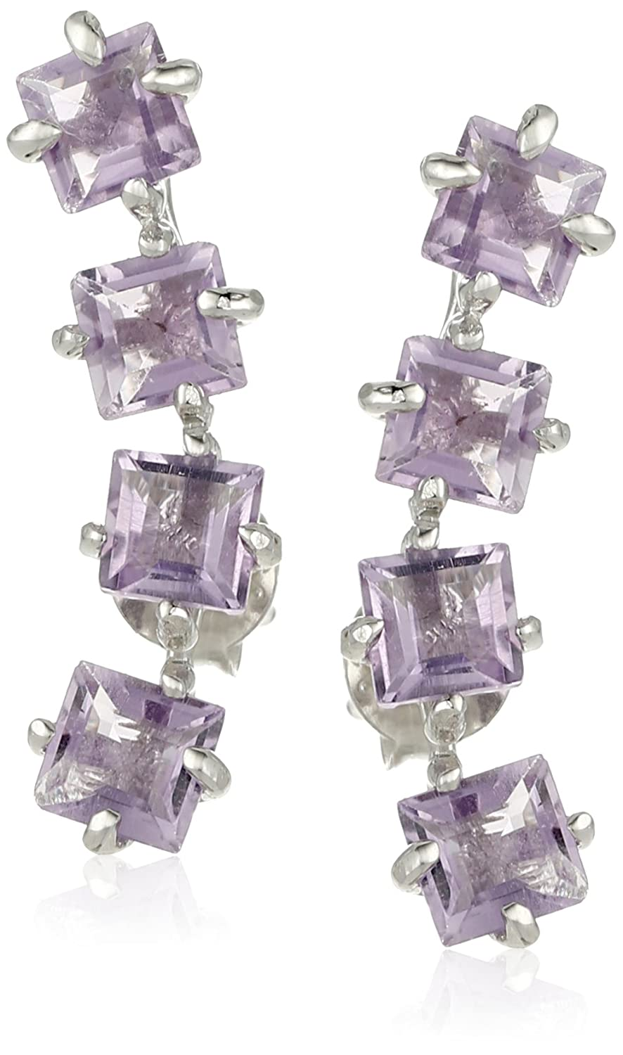 Princess Cut Earring Jackets Amazon Collection FSE0021A