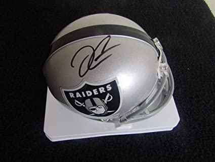e16e1bf1497 Derek Carr Autographed Signed Oakland Raiders Mini Helmet Signature -  Beckett Authentic