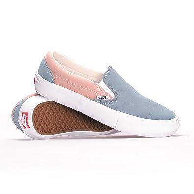 f550b6babd6470 Vans Slip-On Pro (Goblin Blue Mahogany Rose) Men s Skate Shoes-7.5 ...