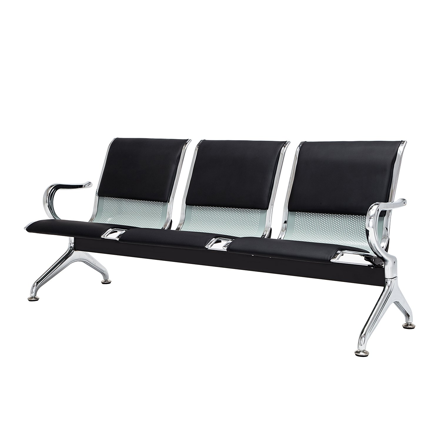 Walcut 3-Seat Reception Area Airport Waiting Room Bench Chair For School,Hospital,Barber shop,Market by WALCUT (Image #9)