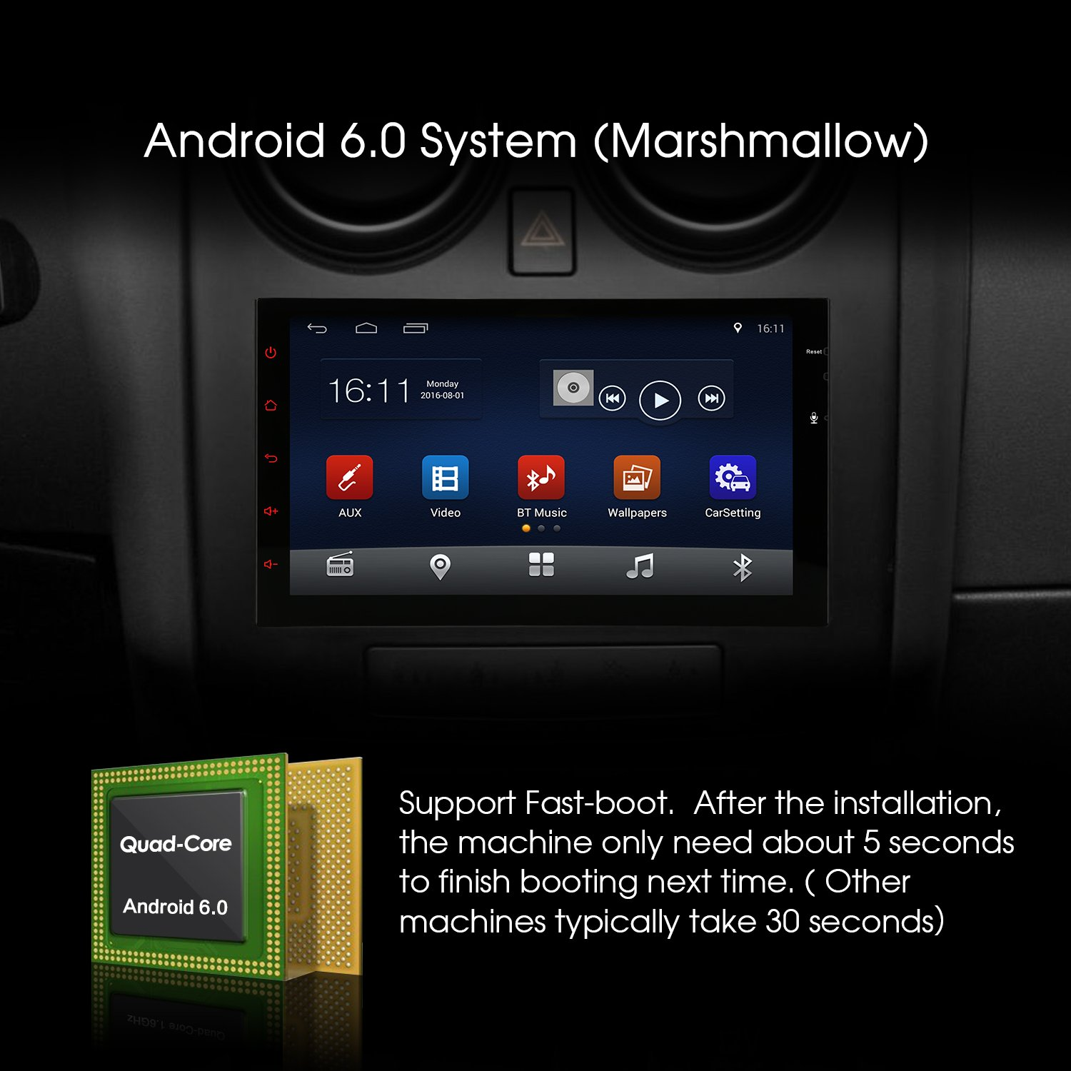 Amazon 7 inch android 60 marshmallow car stereo 2 din in amazon 7 inch android 60 marshmallow car stereo 2 din in dash gps navigation bluetooth radio support phone mirror usb cam in obd2 3g asfbconference2016 Gallery