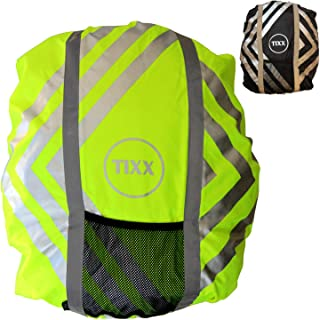 TIXX Rain Cover for School Satchel Rain Cover with Safety Light Waterproof and Reflective Backpack Cover Rain Cover Moisture Protection