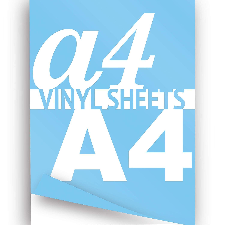 Arctic Blue, A4, 297 x 210 mm), 3er-Pack (3 x selbstklebende Vinylfolie, hohe Qualität A4 Vinyl Selbstklebende Vinylfolien