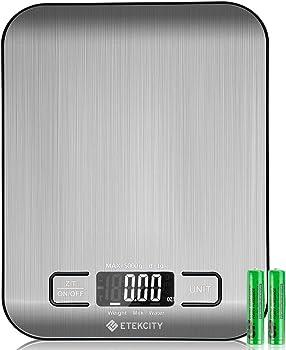 Etekcity 11lb/5kg Backlit Digital Kitchen Food Scale