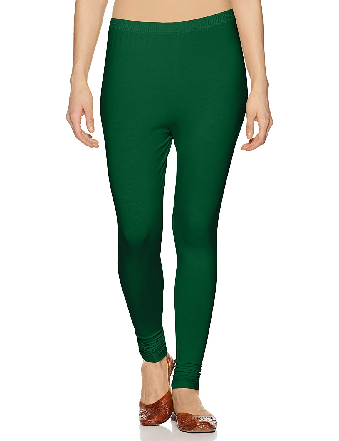 LUX LYRA Women's Leggings Ankle_20_FS_1PC_Rama Green_Free Size