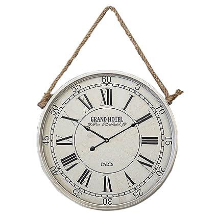 zxc Wall clock Relojes de Pared Redondo Reloj 50cm Pared Tranquila decoración para el hogar Relojes