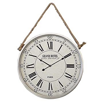 zxc Wall clock Relojes de Pared Redondo Reloj 50cm Pared Tranquila decoración para el hogar Relojes Antiguos de Pared Reloj de Pared, Blanco: Amazon.es: ...