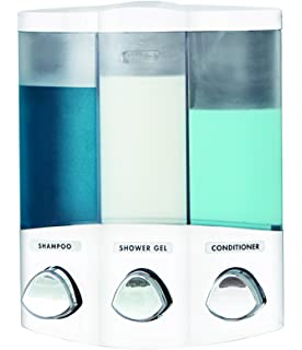 Etonnant Better Living Products 76354 Euro Series TRIO 3 Chamber Soap And Shower  Dispenser, White