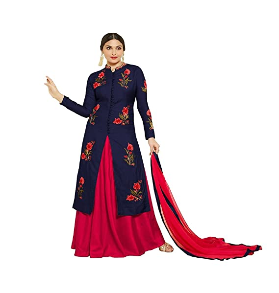 d0127a6dd171 M P STORE s Lehenga Choli (Salwar Suit For Women s Heavy Cotton Embroidered  Semi-Stitched Anarkali